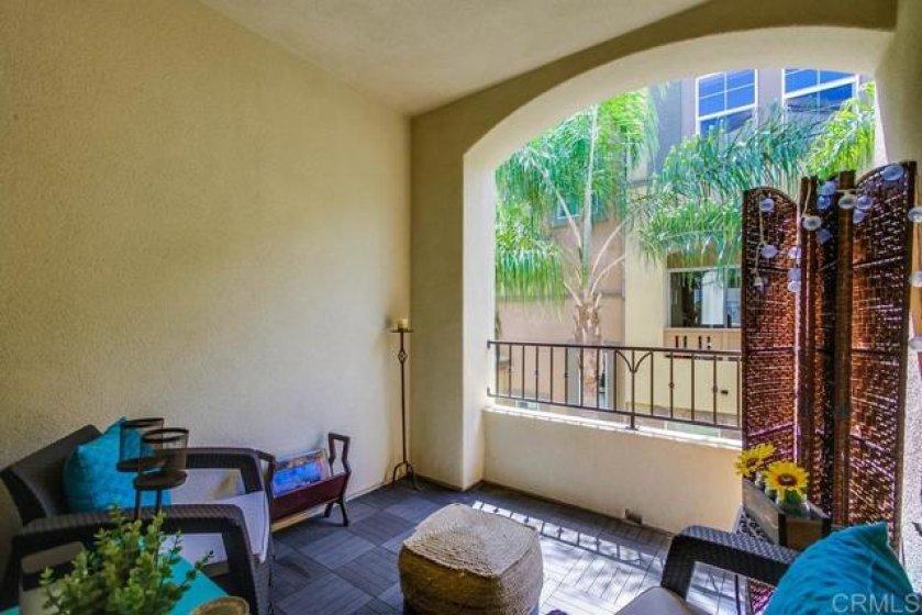 2nd floor Terrace off kitchen Nook