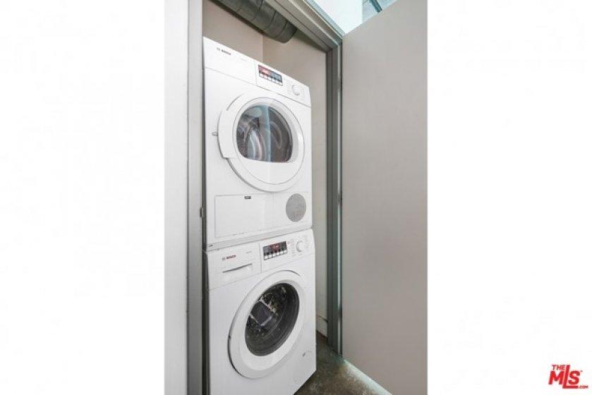 Washer + dryer in unit