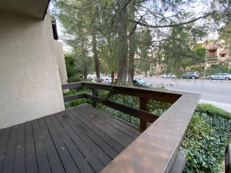 Large front balcony to enjoy watching traffic or people walking their dogs by on a lazy Sunday afternoon.   Or throw your favorite staycation Picnic stuff and enjoy interacting from a distance on your own turf!