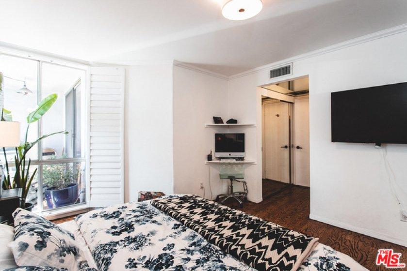Bedroom with Oak Floors