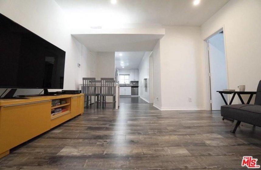 large living room/kitchen