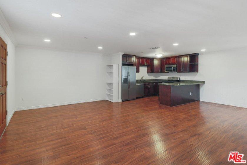 Generous open-concept living room