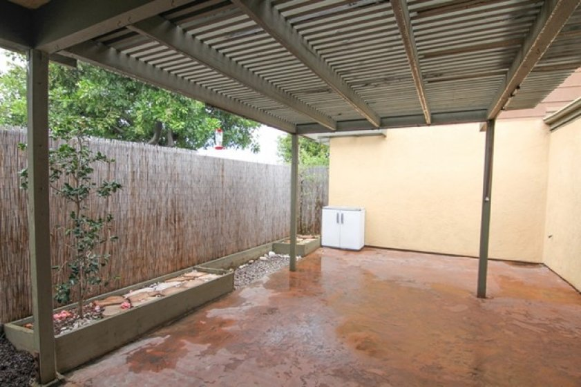 Spacious patio with cover