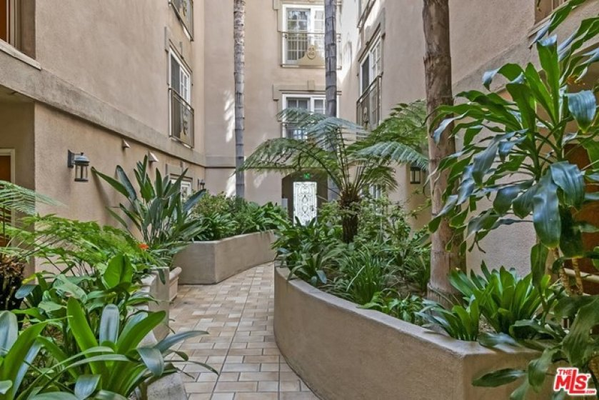 Inviting courtyard entry