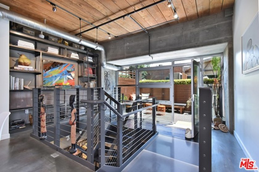 Custom designed industrial bookshelf