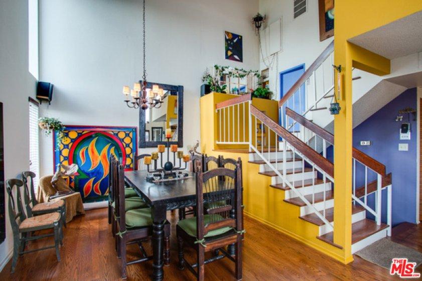 Dining Room, Steps toward Mezz lead to Loft