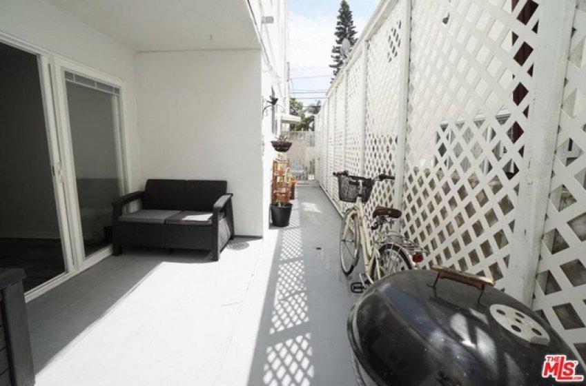 Large patio w BBQ area