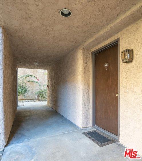 Entrance to unit ground level no steps, end unit