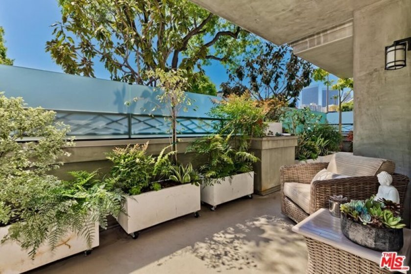 huge private patio