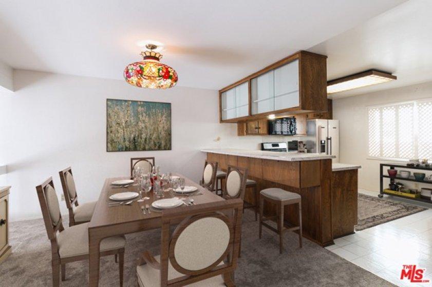 dining room digitally staged