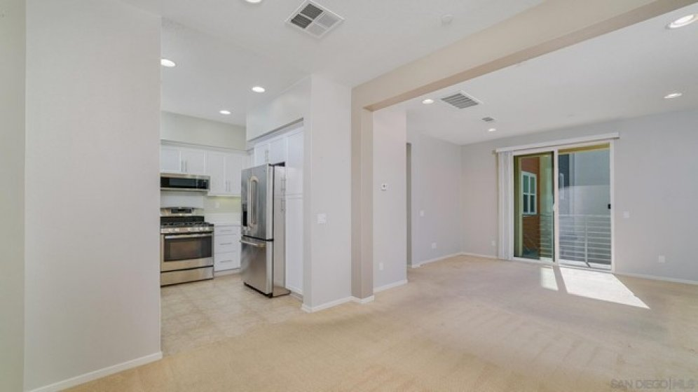 Open Dining to Living area
