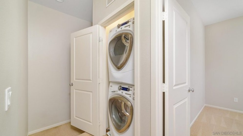 Laundry Upstairs with the bedrooms!