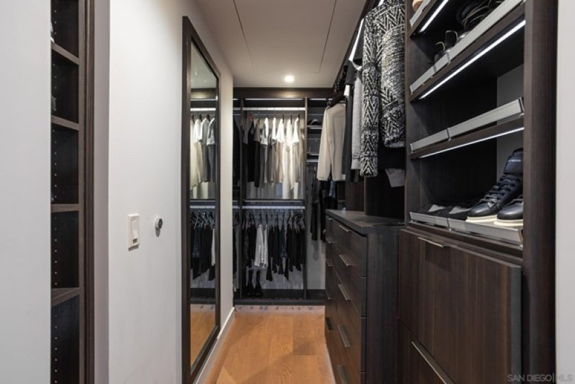 Primary Walk-in Closet with Custom Built-ins