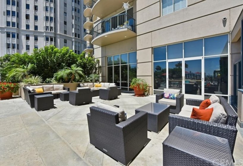 The Outdoor Lounge area