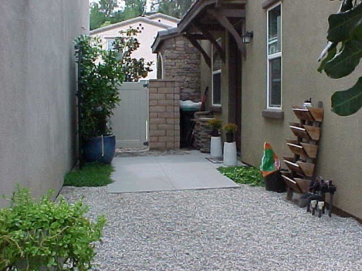 Side Yard and Side Entrance to Home