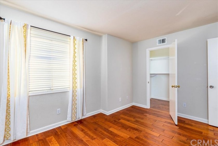 Upstairs bedroom with walk in closet.