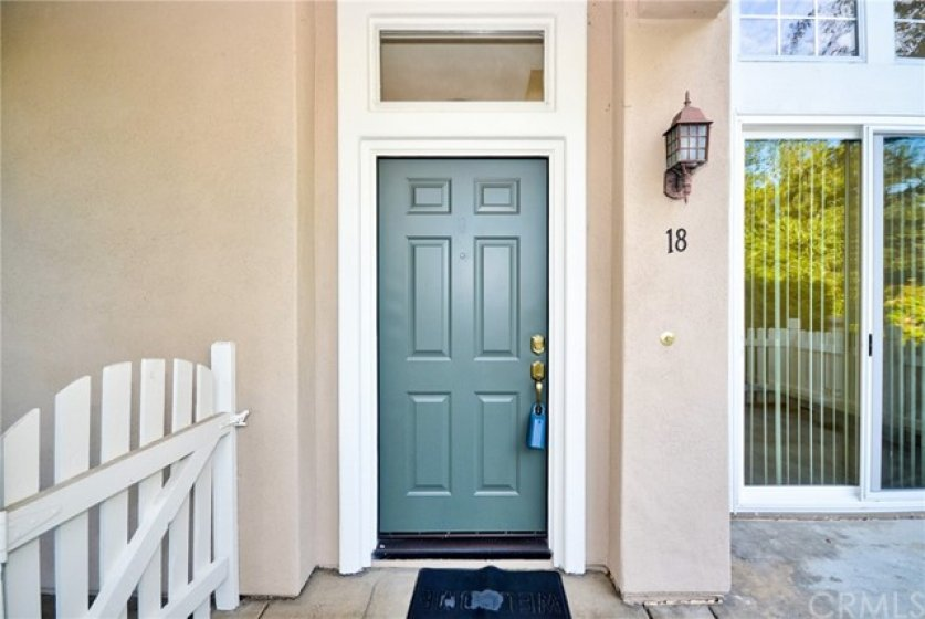 front Entry door with court yard