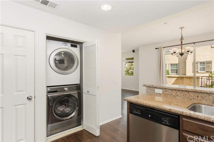 Pantry and separate laundry