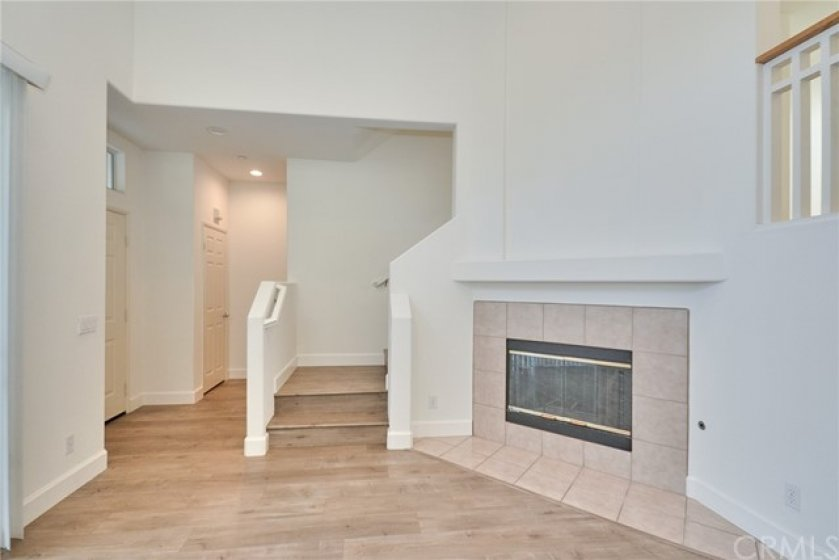 Living Room with Fire Place, Cathedral Ceiling