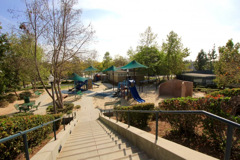 Bring your children to play at the North Hills playground in Brea Ca