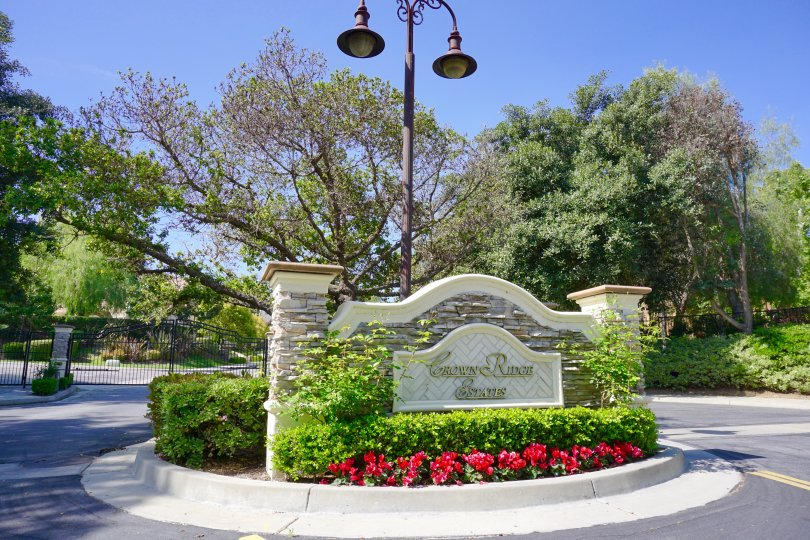 Crown Ridge Estates Community Marquee in Chino Hills Ca