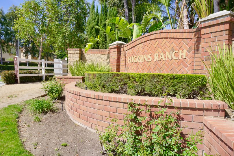 Higgins Ranch Community Marquee in Chino Hills Ca