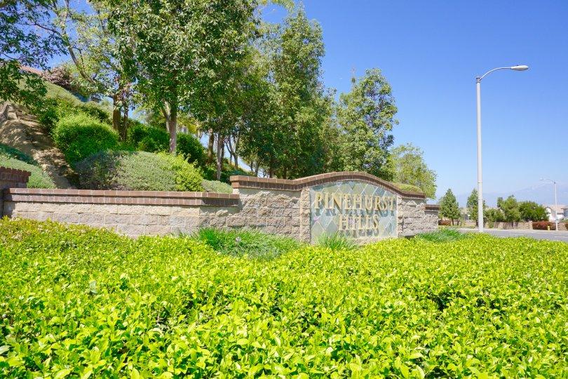 Pinehurst Hills Community Marquee in Chino Hills Ca