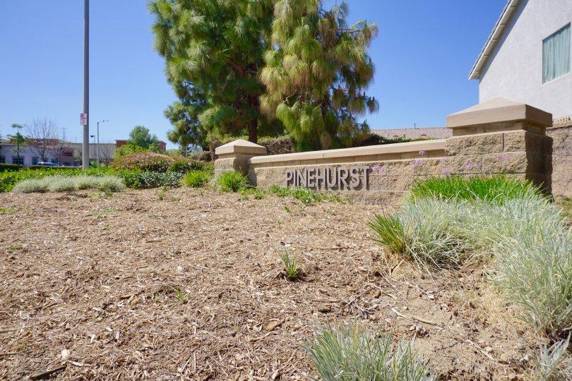 Pinehurst Community Marquee in Chino Hills Ca