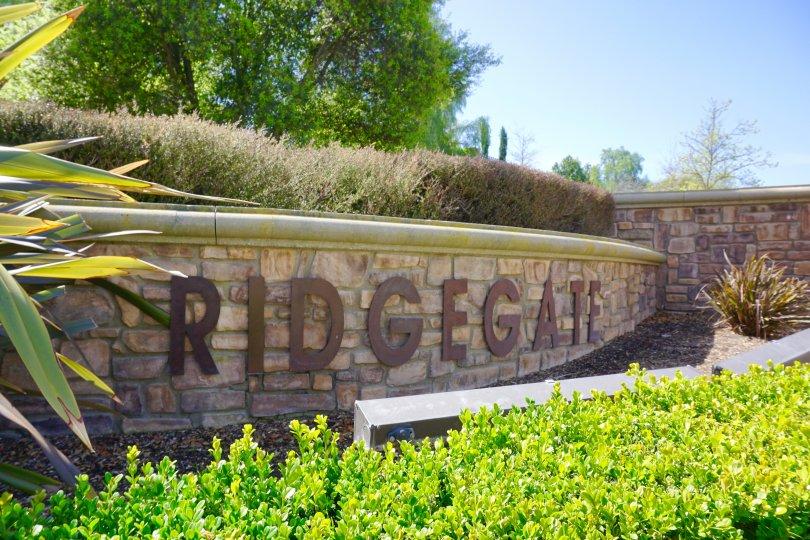 Ridgegate Community Marquee in Chino Hills Ca