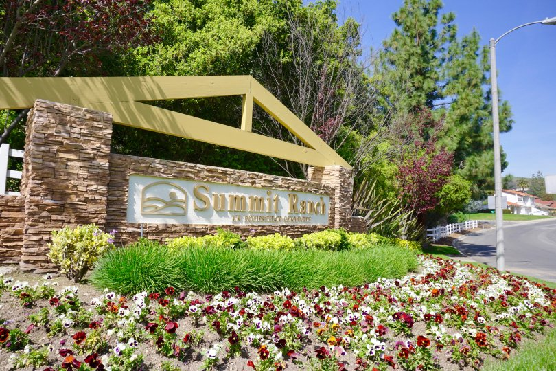 Summit Ranch Community Marquee in Chino Hills Ca