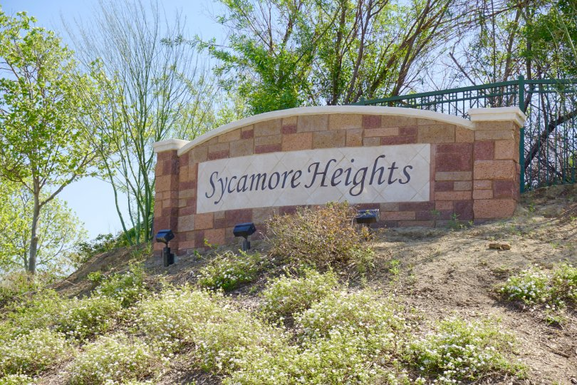 Sycamore Heights Community Marquee in Chino Hills Ca