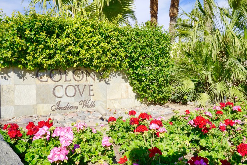 Colony Cove Community Marquee in Indian Wells Ca
