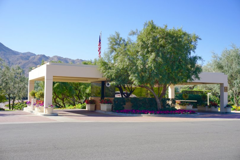 Guard gates to the community of El Dorado Country Club in Indian Wells give its residents security and peace of mind