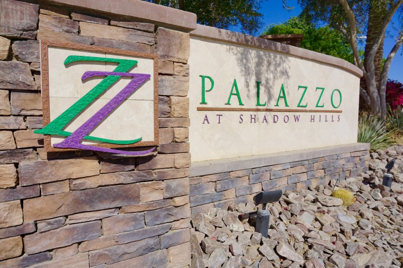 Palazzo at Shadow Hills community marquee