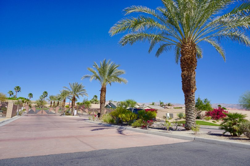 Sandhurst Cove is a private gated community in Indio