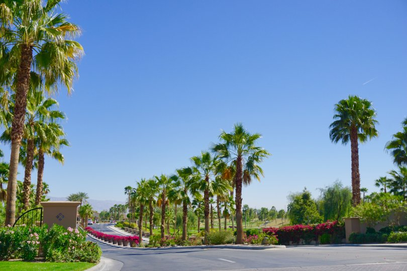 The entrance to the Sun City Shadow Hills community in Indio Ca