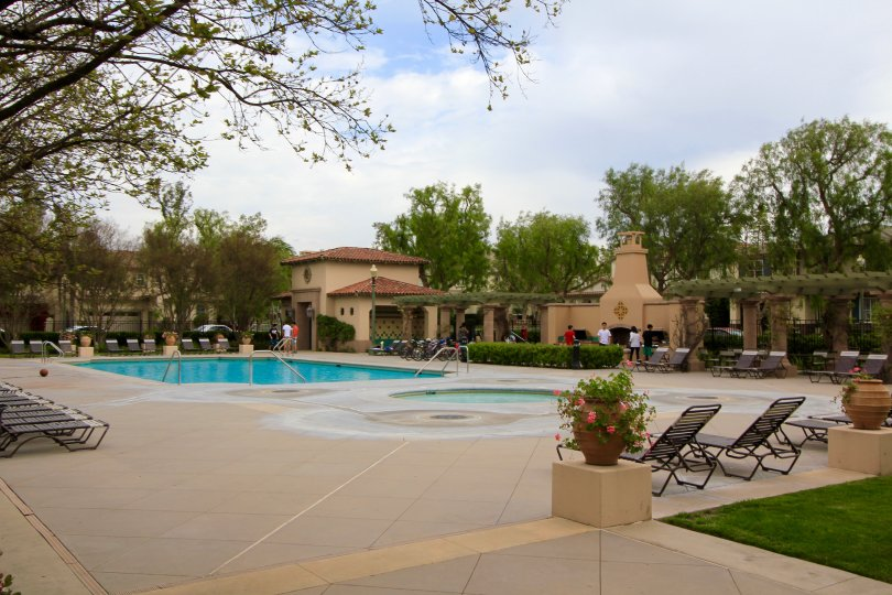 The community pool & spa at Northpark in Irvine Ca