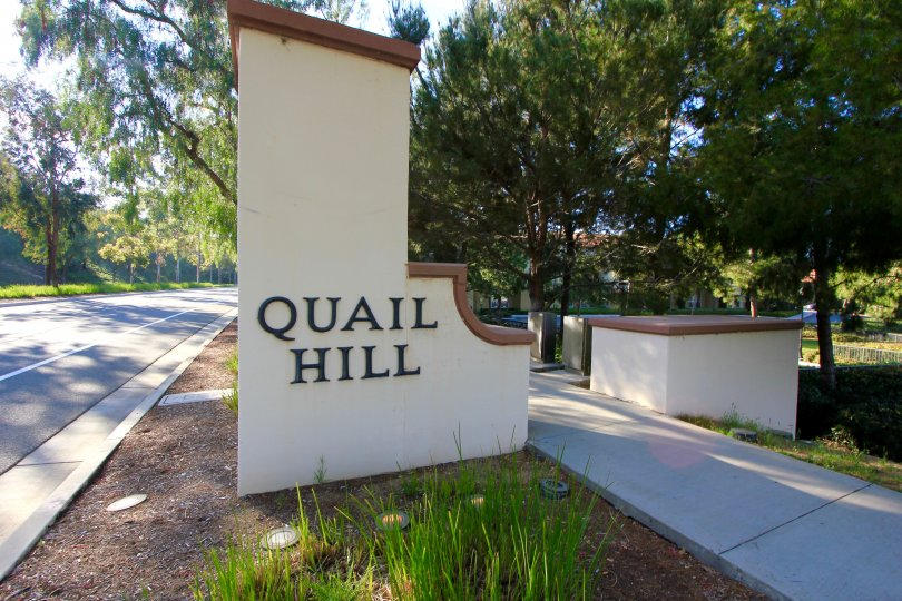 Quail Hill Community Marquee in Irvine Ca
