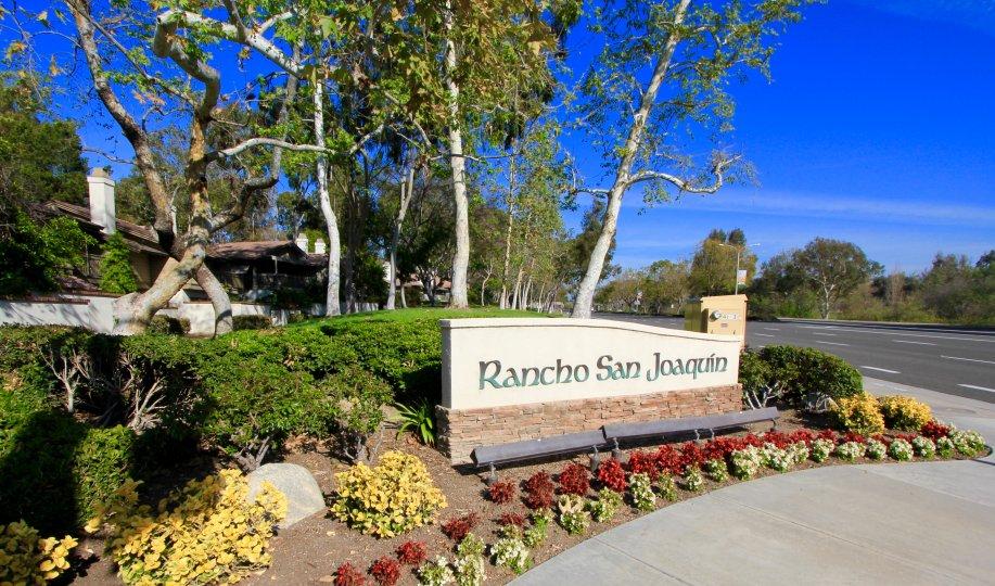 Rancho San Joaquin Community Marquee in Irvine Ca