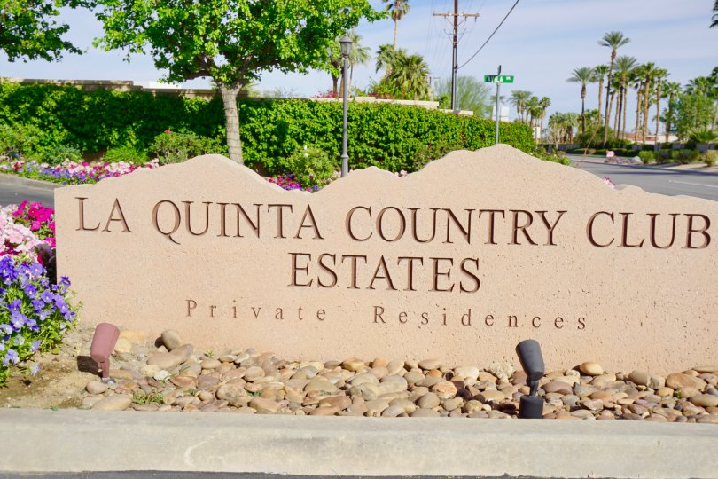 La Quinta Country Club Estates Community Marquee