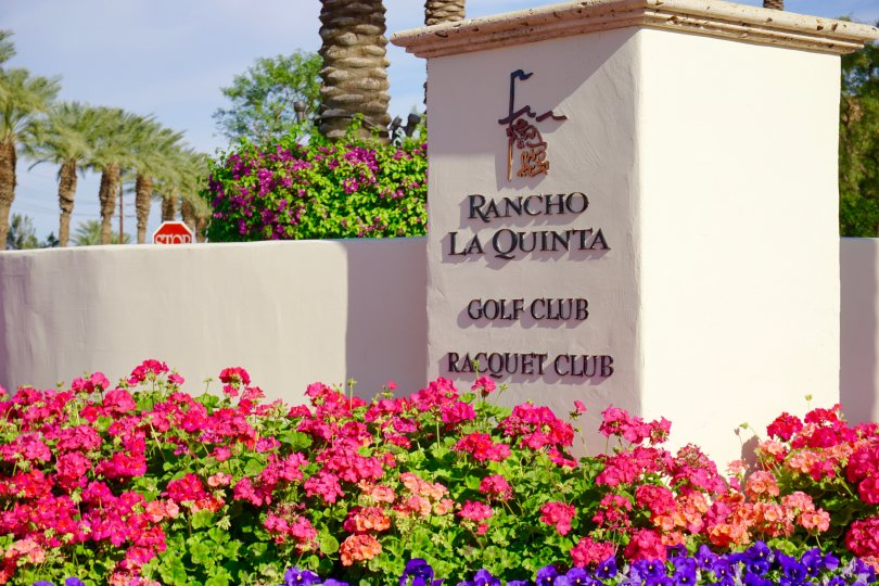 The sign for Rancho La Quinta Golf Club