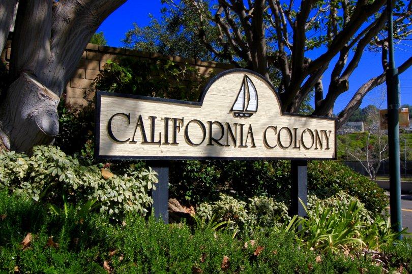 California Colony Community Marquee