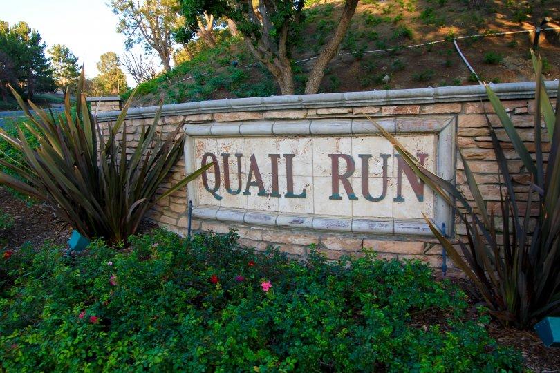 Quail Run Community Marquee