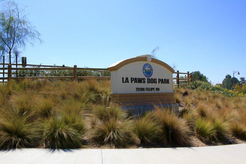 La Paws Dog Park Marquee