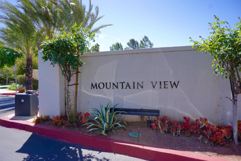 Community marquee for Mountain View in Moreno Valley