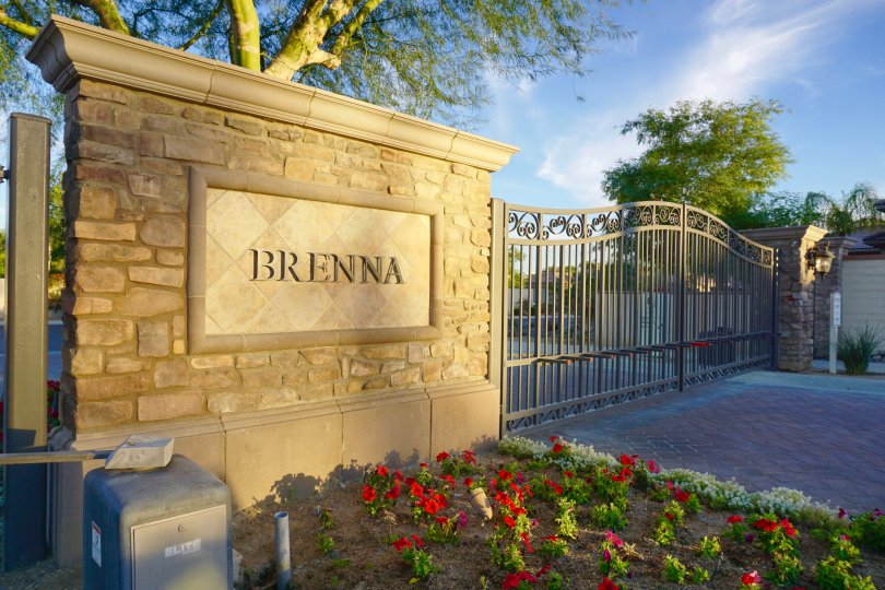 The Marquee is prominently visible at the entrance of Brenna at Capri
