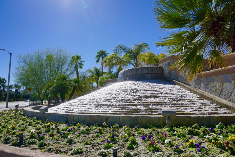 Be greeted by a water feature at the entrance of Montecito