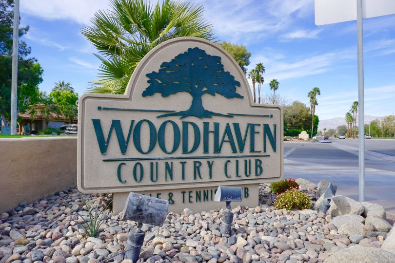 Woodhaven Country Club Community Marquee