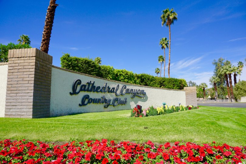 The Cathedral Canyon Country Club Community Marquee