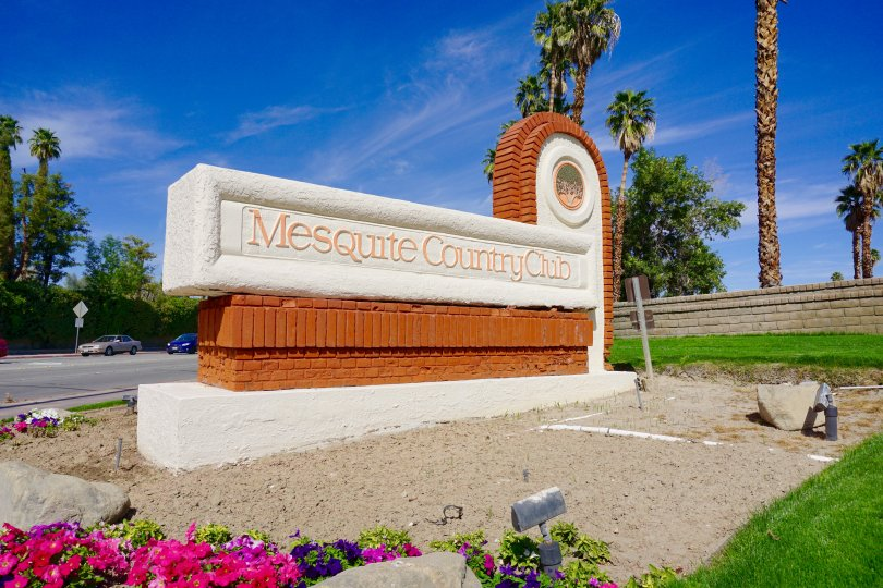 Mesquite Country Club Community Marquee